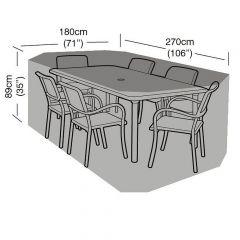 Garland 6 Seat Rectangular Set Cover