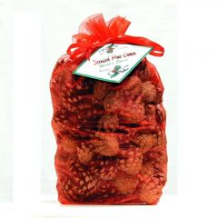 Scented Pine Cones   Red Bag