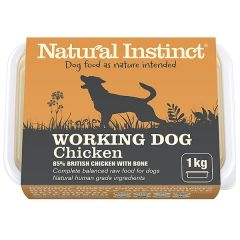 Working Dog Chicken Twin 500g Pack