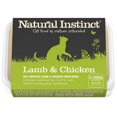 Natural Instinct Lamb & Chicken Twin 500g Pack