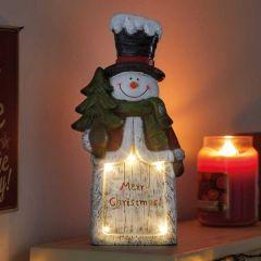 LED Merry Christmas Snowman Ornament