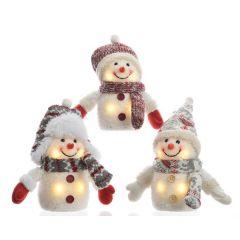 LED Snowman Figure   3 Assorted   Warm White 4 LEDs