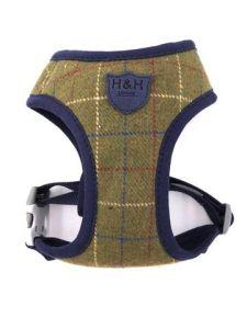Hugo & Hudson Green Checked Tweed Harness L