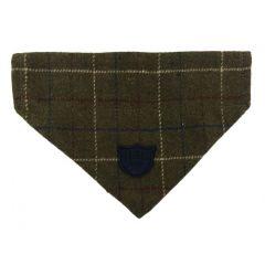 Hugo & Hudson Green Checked Tweed Bandana S