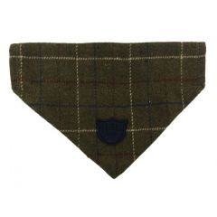 Hugo & Hudson Green Checked Tweed Bandana M