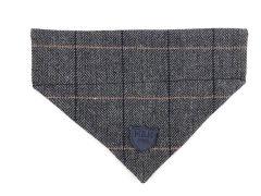 Hugo & Hudson Grey Checked Tweed Bandana XS