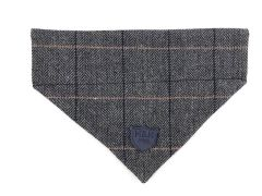 Hugo & Hudson Grey Checked Tweed Bandana S