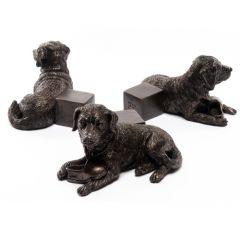 Potty Feet Antique Bronze Labrador Set of 3