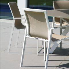 Westminster Coast/Ocean Extending Straight Legged Eight Seat Set White/Dawn