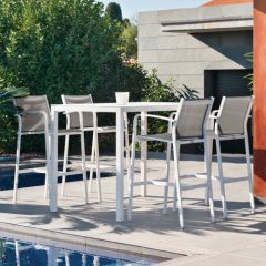 Westminster Bali Four Seat Bar Set White/Dawn