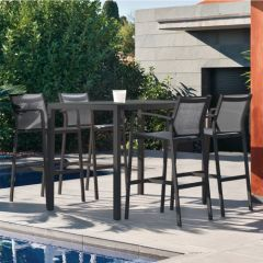 Westminster Bali Four Seat Bar Set Charcoal/Dusk