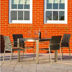 Westminster Seattle/Toronto Square Four Seat Set Charcoal/Steel