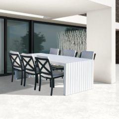 Westminster Edge/Design Rectangular Six Seat Set Charcoal