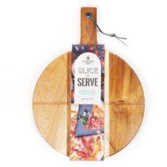 """Alfresco Chef 14"""" Acacia Slice & Serve Board"""