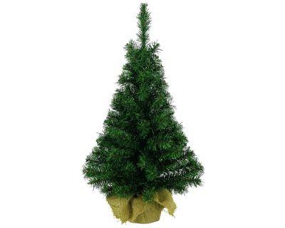 Pre Lit 60cm  Mini Christmas Tree In Jute Bag