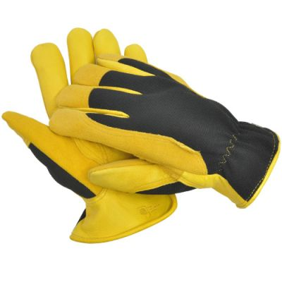Gold Leaf Gardening Gloves Winter Touch   Size Gents