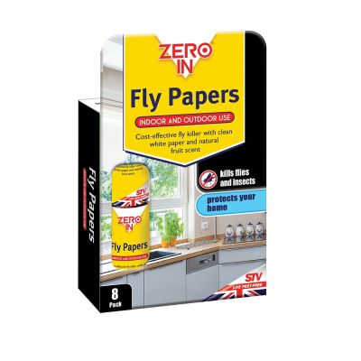 Zero In Fly Papers - 8 Pack