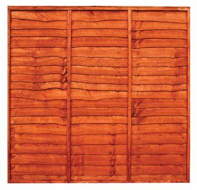 Zest 4 Leisure Waney Lap Fench Panel   1.83 x 1.83m