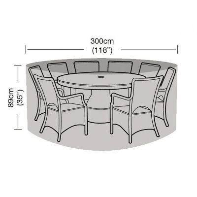 Garland 8 Seat Round Furniture Set Cover