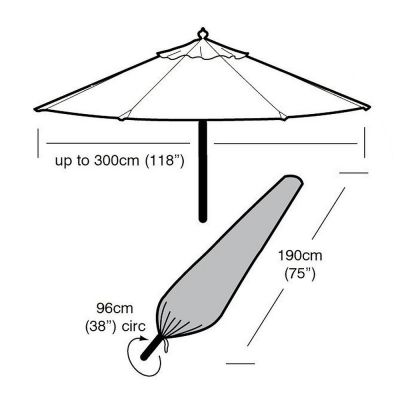 Garland Large Parasol Cover