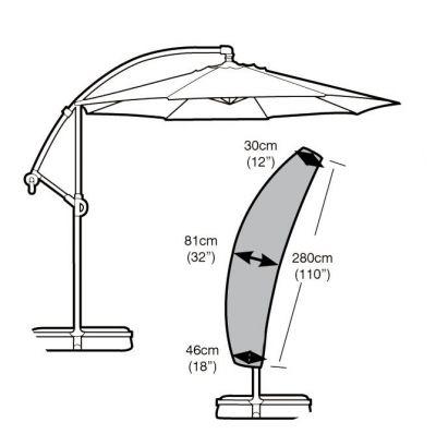 Garland Sail Parasol Cover