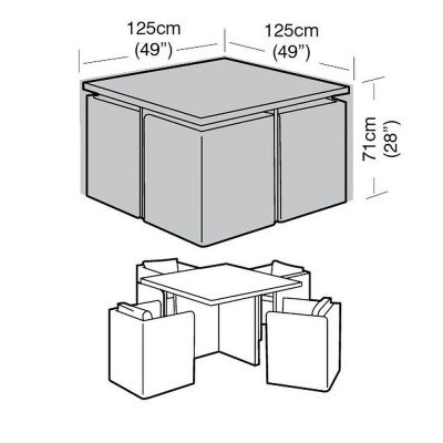 4 Seat Medium Cube Set Cover
