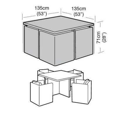 4 Seat Large Cube Set Cover