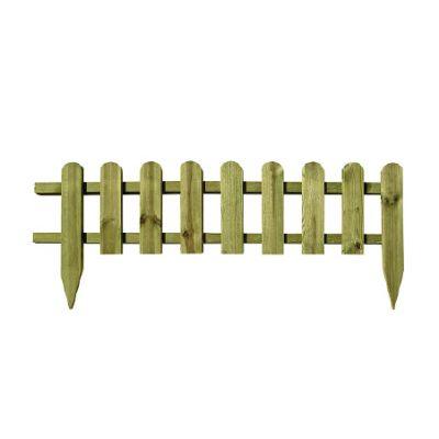 Zest 4 Leisure Wooden Mini Picket Fence 115cm x 28cm