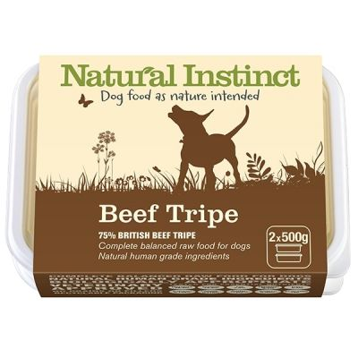 Natural Instinct Beef Tripe Twin 500g Pack