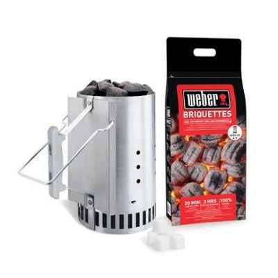 Weber Rapidfire Chimney Starter Set