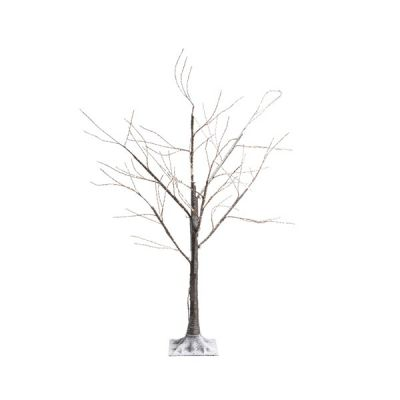 150cm Micro LED Lit Tree with Snow Effect   Warm White 400 LEDs