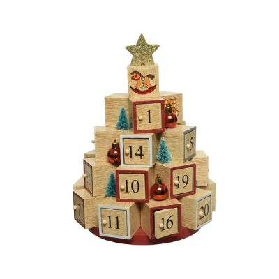 MDF Advent Calendar Boxes   Natural
