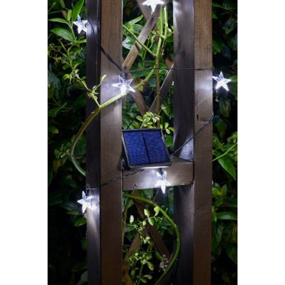 Smart Garden Solar Ultra White Star String Lights