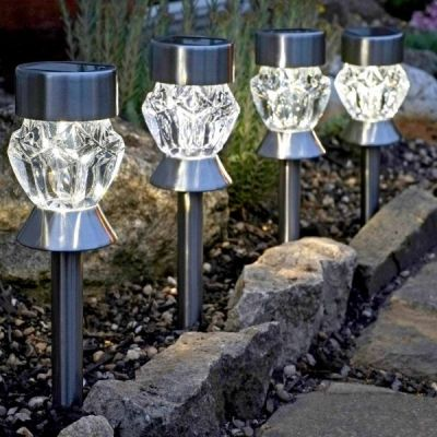Solar Crystal Stake Light Set