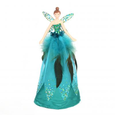 28cm Peacock Feather Tree Topper Fairy