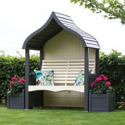 AFK Garden Orchard Arbour Charcoal & Cream