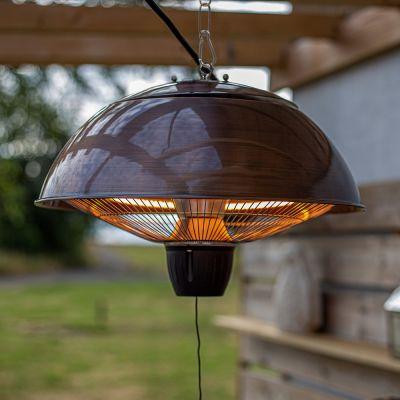 La Hacienda Copper Series Hanging Mushroom D Heater