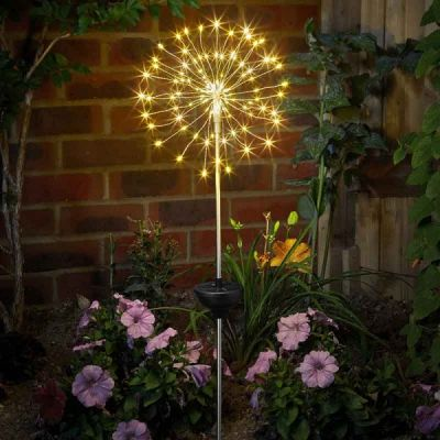 Smart Garden Warm White Solar Starburst Stake Light