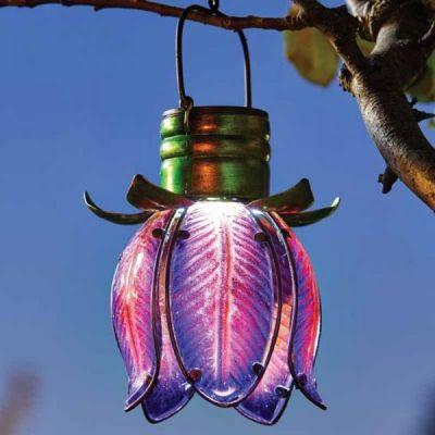 Smart Garden Solar Purple & Pink Tulip Pendant