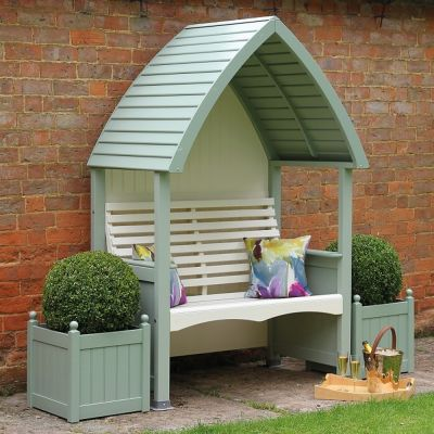 AFK Garden Cottage Arbour Sage & Cream