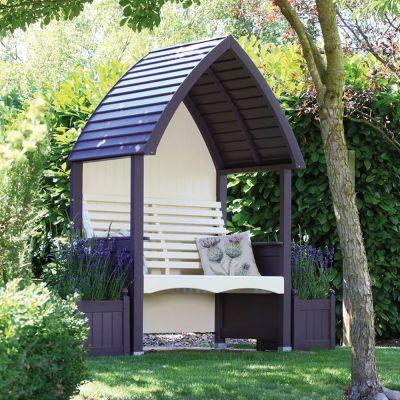 AFK Garden Cottage Painted Arbour Lavender & Cream