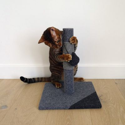 Catwalk Collection Charcoal Felt Cat Post
