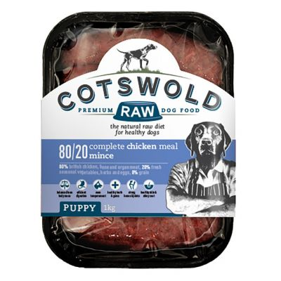 Cotswold Raw 80/20 Puppy Working Beef & Tripe 1kg