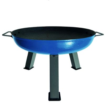 Robert Charles Atlanta Medium Cast Iron Firepit   Blue