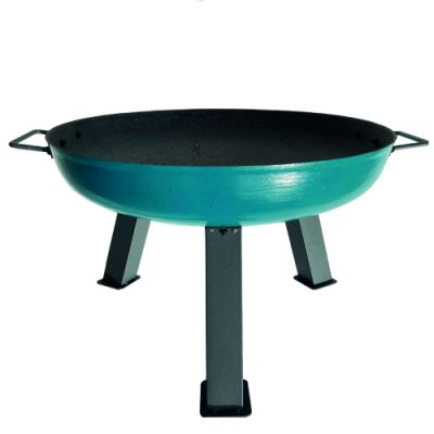 Robert Charles Atlanta Medium Cast Iron Firepit   Green