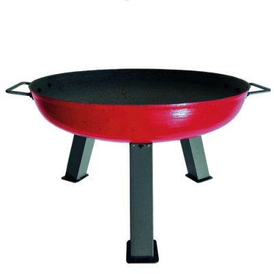 Robert Charles Atlanta Medium Cast Iron Firepit   Red