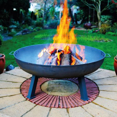 Robert Charles Atlanta XLarge Cast Iron Firepit   Natural