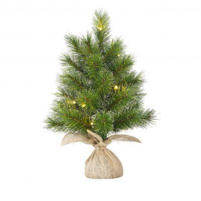 Glendon Christmas Tree with Burlap and LED lights 60cm