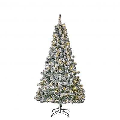 Millington Frosted Christmas Tree with LED Lights 2.15m