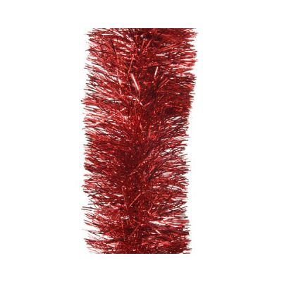 Tinsel Garland in Christmas Red